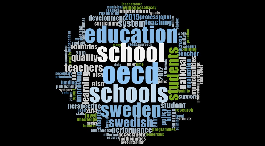 OECD rapport 2015 word cloud