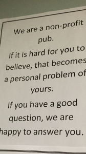 This is a non-profit pub